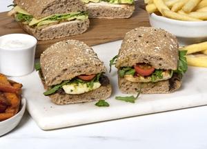 Drivu Halloumi Cheese and Pesto Sandwich