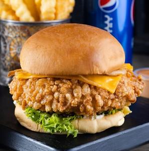 Drivu Rice crispy burger