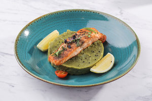 Drivu Grilled Salmon With Mashed Herbs