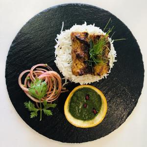 Drivu Chicken Kebab with Jeera Rice