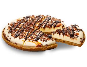 Drivu Ice Cream Pizza - Caramel Honeycomb Candy - Full Pizza