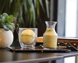 Drivu Chocolate Bomb with Matcha Latte