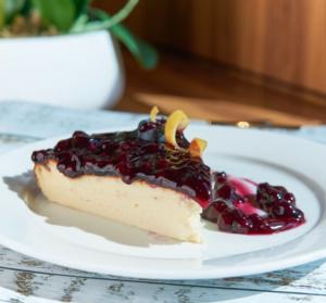 Drivu Blueberry San Sebastian Cheesecake