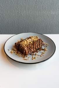 Drivu French toast w/ Nutella, Salted Caramel, Granola