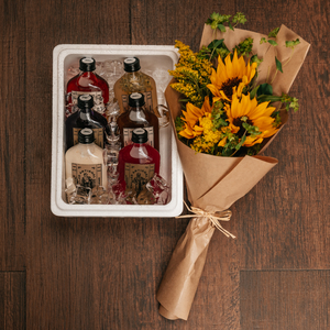 Drivu Nomad Box Small with Flowers (6 bottles)