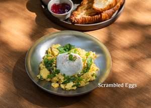 Drivu Scrambled Eggs with Croissant