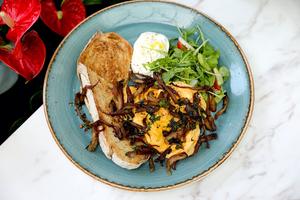 Drivu Burrata Scrambled Eggs