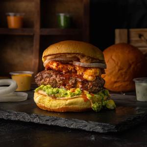 Drivu The Mexican Beef & Shrimp Burger
