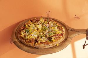 Drivu Cilantro Pizza (corn, coriander, cheese)