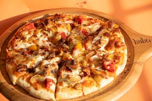 Drivu Roasted Garlic & Bell Pepper Pizza