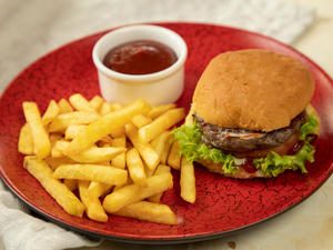 Drivu Mini Burger with Fries