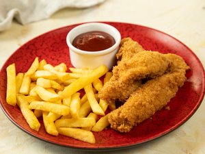 Drivu Breaded Chicken with Fries