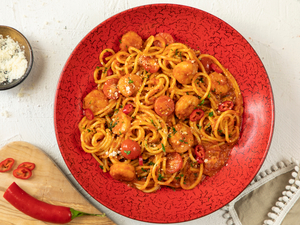Drivu Spaghetti Shrimp Arrabbiata