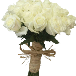 Drivu bridal bouquet white roses