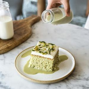 Drivu Pistachio Milk Cake (slice)