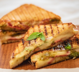 Drivu Grilled Cheese Sandwich with Basil
