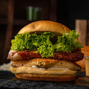Drivu Grilled Chicken Burger with Mozzarella Panee