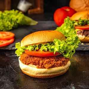 Drivu Crunchy Chicken Burger