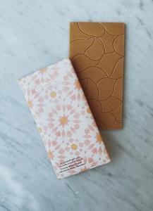 Drivu Desert Rose Collection: Almond Praline with Aseeda White Chocolate Bar