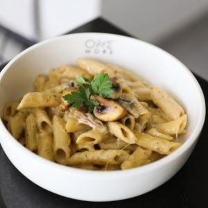 Drivu Mushroom Alfredo Pasta