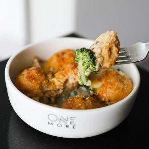 Drivu Potato Balls with Chicken & Broccoli