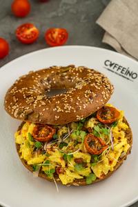 Drivu Egg and Avocado Bagel