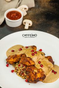 Drivu Chicken with Spicy Mushroom Sauce
