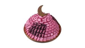 Drivu Arabesque Medium Chocolate Tray