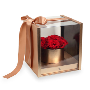Drivu Red Roses in Luxury Gold Box (BO3)