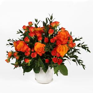 Drivu Orange Rose in Vase (V1)