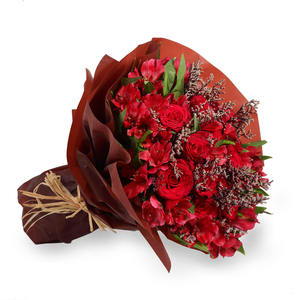 Drivu Luxury Red Roses Maroon Bouquet (HB10)