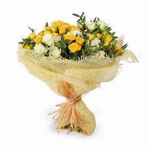Drivu Luxury Yellow Rose Bouquet (HB6)