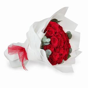 Drivu Red Rose - Luxury White Bouquet (HB5)