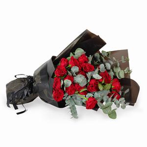 Drivu Luxury Red Rose - Black Bouquet (HB4)