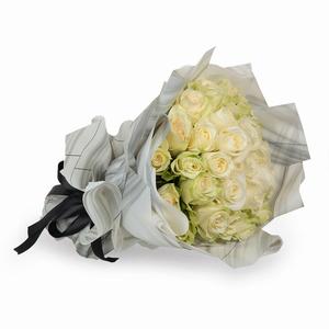 Drivu Luxury Pink Rose - White Bouquet (HB2)