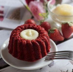 Drivu Molten Red Velvet Cake with Ice cream