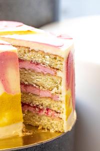 Drivu Raspberry Cardamom Cake - 1 slice