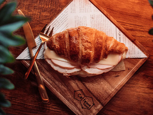 Drivu Turkey With Cheese Croissant