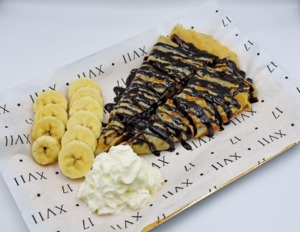 Drivu Crepes Nutella & Banana and whippen cream