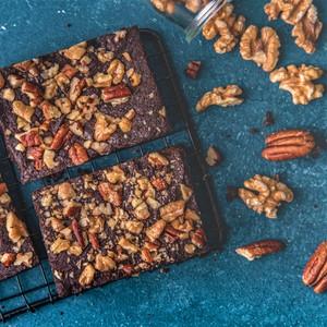 Drivu Walnut Pecan Brownies (Vegan)