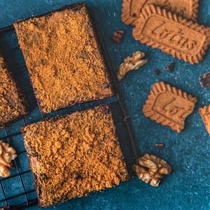 Drivu Lotus Biscoff Brownies (Vegan)