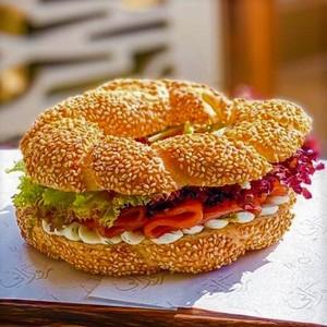 Drivu Smoked Salmon with Simit Bread