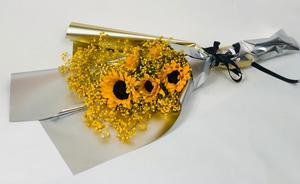 Drivu Sunflowers Gypsophil - Luxury Bouquet B22