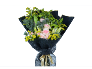 Drivu Casablanca with Pink flowers - Luxury bouquet B23