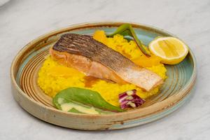 Drivu Salmon On Risotto  سالمون  ريزوت