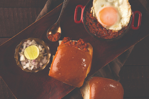 Drivu Keema Pav with Fried Egg