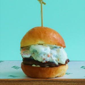 Drivu Mushroom & Onions Burger
