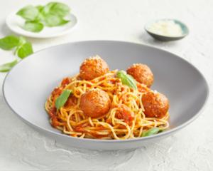 Drivu Plant-based Meatballs with Spaghetti and Marinara Sauce