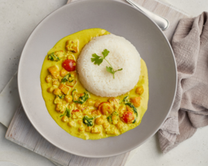 Drivu Pumpkin and Chickpea Coconut Curry
