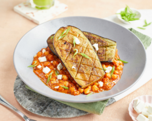 Drivu Grilled Eggplant with Chickpeas